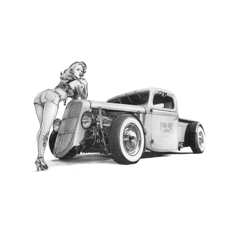 """""""Hot Rod and Tattoo"""": a cool mix! Men's Tank by Pinupart.it - Mad Mac Art"""