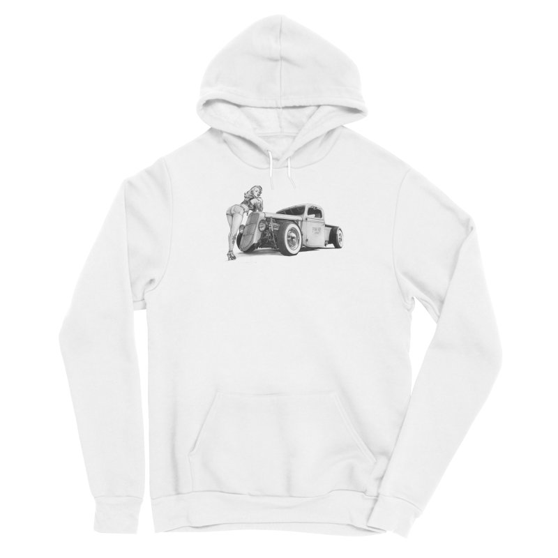 """""""Hot Rod and Tattoo"""": a cool mix! Women's Pullover Hoody by Pinupart.it - Mad Mac Art"""
