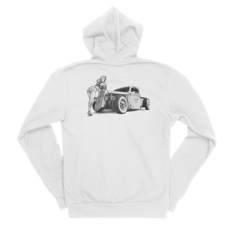 """""""Hot Rod and Tattoo"""": a cool mix! Women's Zip-Up Hoody by Pinupart.it - Mad Mac Art"""