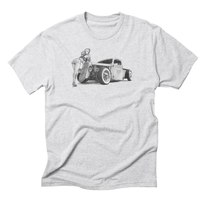 """Hot Rod and Tattoo"": a cool mix! Men's Triblend T-Shirt by Pinupart.it - Mad Mac"