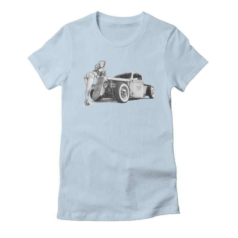 """""""Hot Rod and Tattoo"""": a cool mix! Women's T-Shirt by Pinupart.it - Mad Mac Art"""
