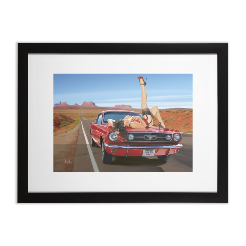 """""""I Love Muscles"""": everywhere! Home Framed Fine Art Print by Pinupart.it - Mad Mac Art"""