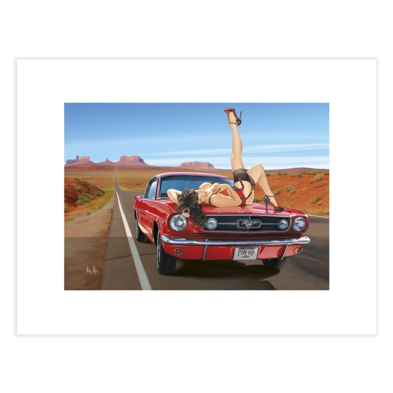 """""""I Love Muscles"""": everywhere! Home Fine Art Print by Pinupart.it - Mad Mac Art"""