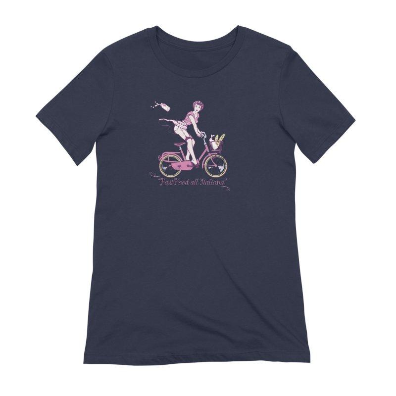 """""""Fast Food all'Italiana"""": genuine Italian fast food style! Women's T-Shirt by Pinupart.it - Mad Mac Art"""