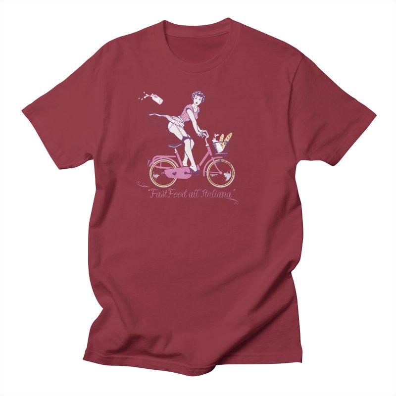 """""""Fast Food all'Italiana"""": genuine Italian fast food style! Men's T-Shirt by Pinupart.it - Mad Mac Art"""