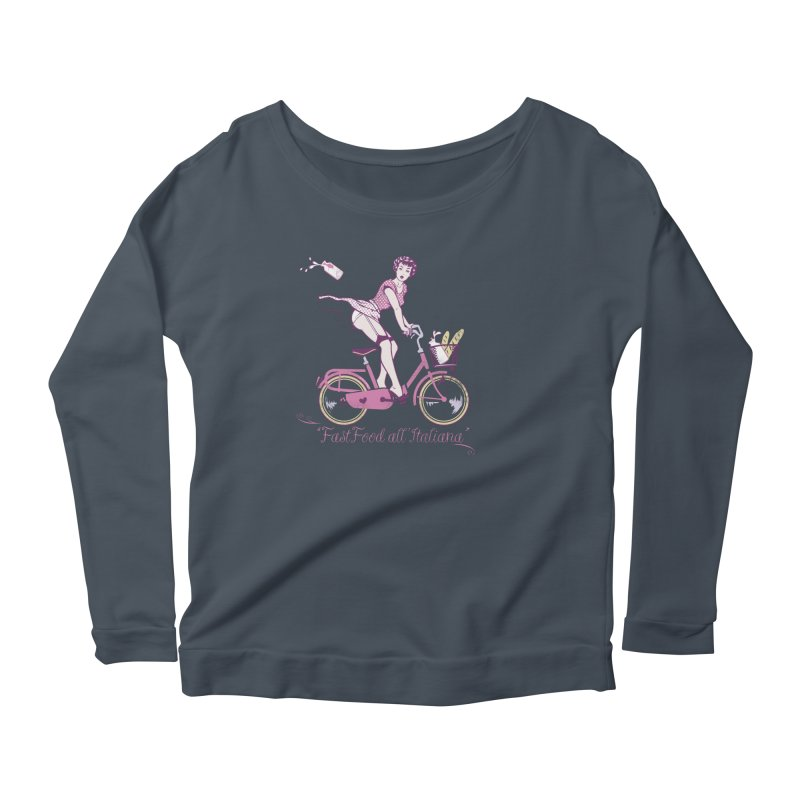 """Fast Food all'Italiana"": genuine Italian fast food style! Women's Longsleeve T-Shirt by Pinupart.it - Mad Mac Art"