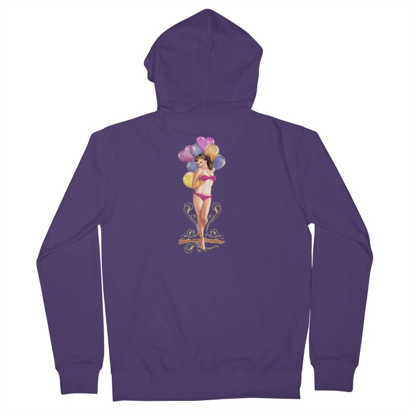 """Love me tender"": hug me, wear me! Women's Zip-Up Hoody by Pinupart.it - Mad Mac Art"