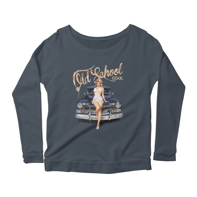 """""""Old School Cool"""": always cool classic! Women's Scoop Neck Longsleeve T-Shirt by Pinupart.it - Mad Mac"""
