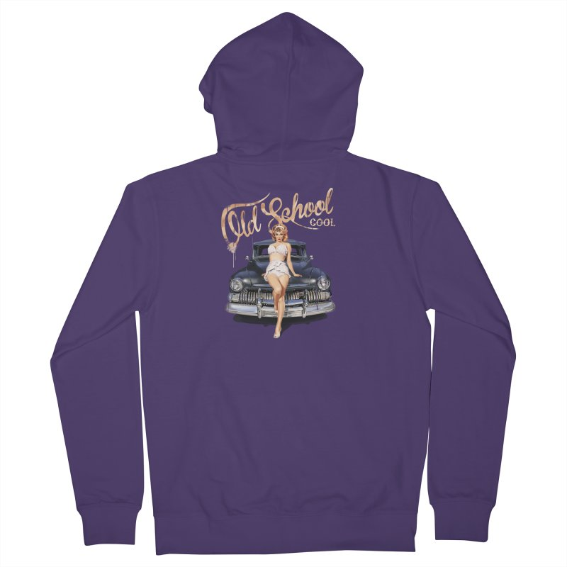 """""""Old School Cool"""": always cool classic! Women's Zip-Up Hoody by Pinupart.it - Mad Mac Art"""