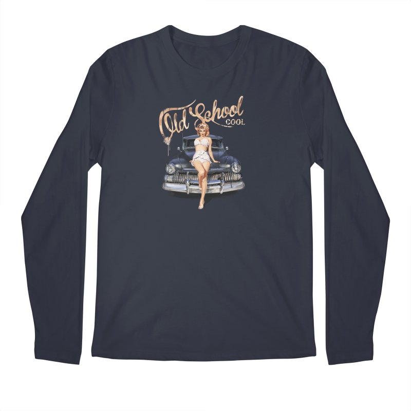 """Old School Cool"": always cool classic! Men's Longsleeve T-Shirt by Pinupart.it - Mad Mac Art"