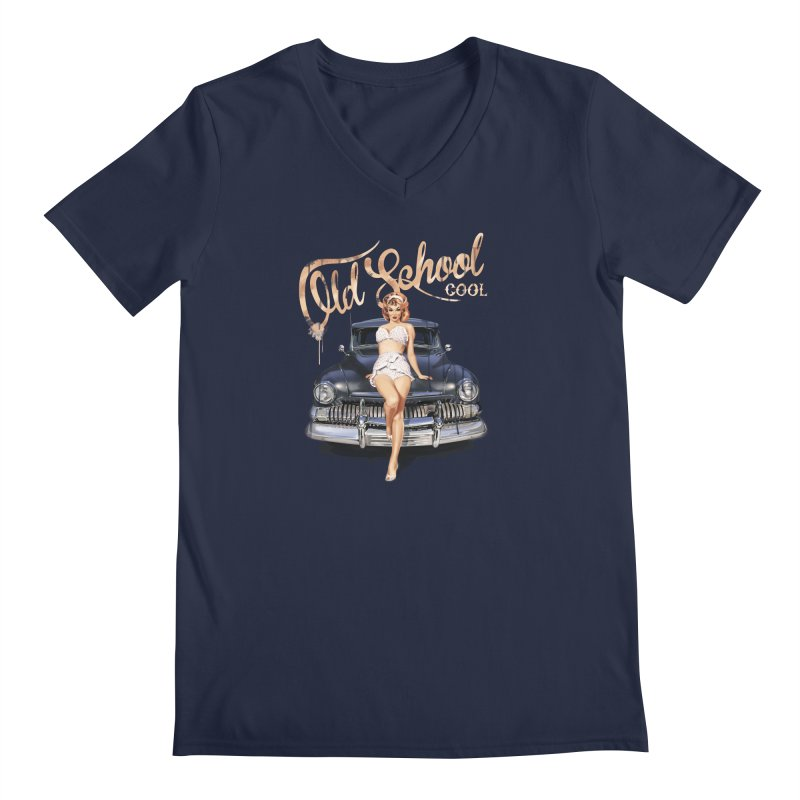"""""""Old School Cool"""": always cool classic! Men's V-Neck by Pinupart.it - Mad Mac Art"""
