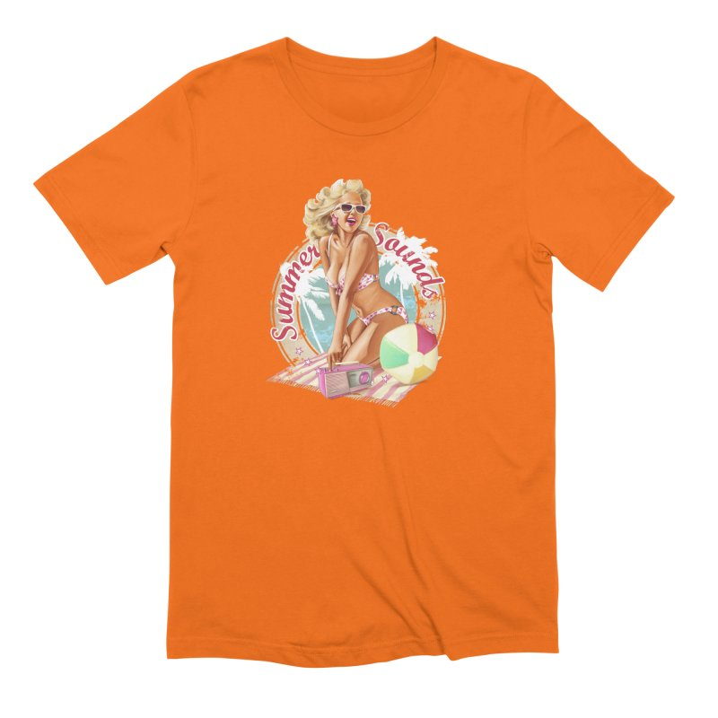 """Summer Sounds"": the endless summer of Pin Up Art! Men's T-Shirt by Pinupart.it - Mad Mac Art"