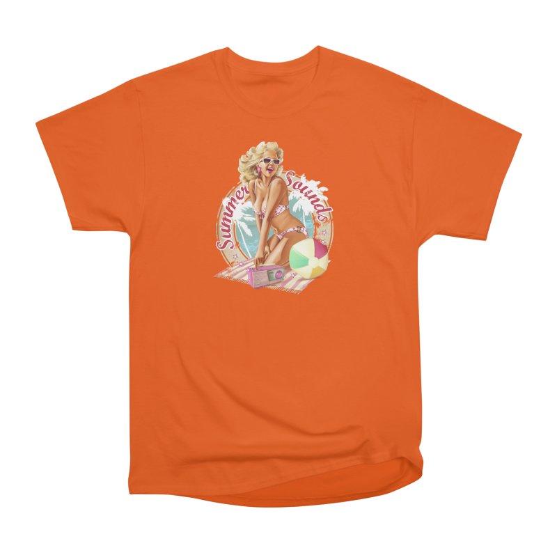 """""""Summer Sounds"""": the endless summer of Pin Up Art! Women's T-Shirt by Pinupart.it - Mad Mac Art"""
