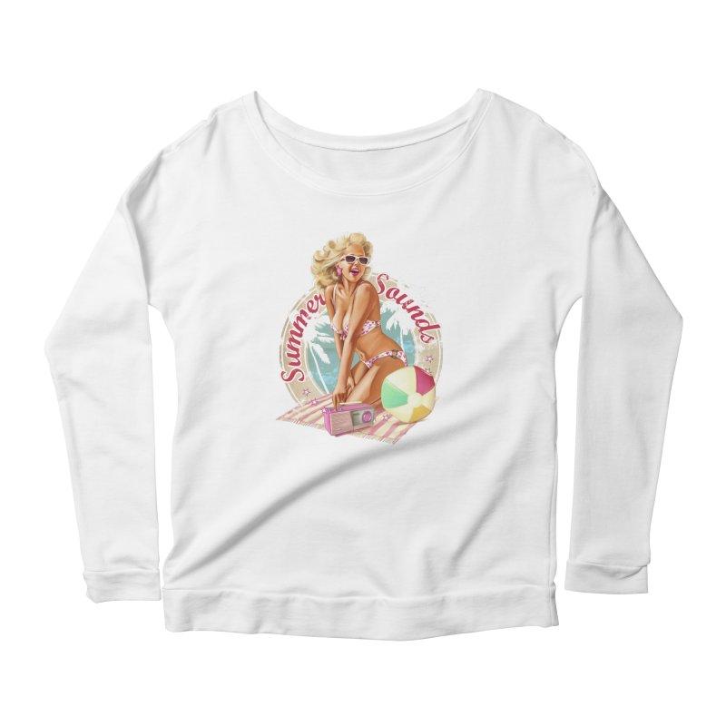 """""""Summer Sounds"""": the endless summer of Pin Up Art! Women's Longsleeve T-Shirt by Pinupart.it - Mad Mac Art"""