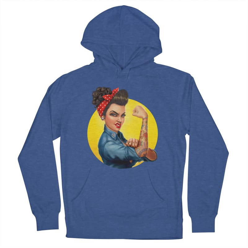 Rosie The Riveter Women's Pullover Hoody by Pinup Bombshells Artist Shop