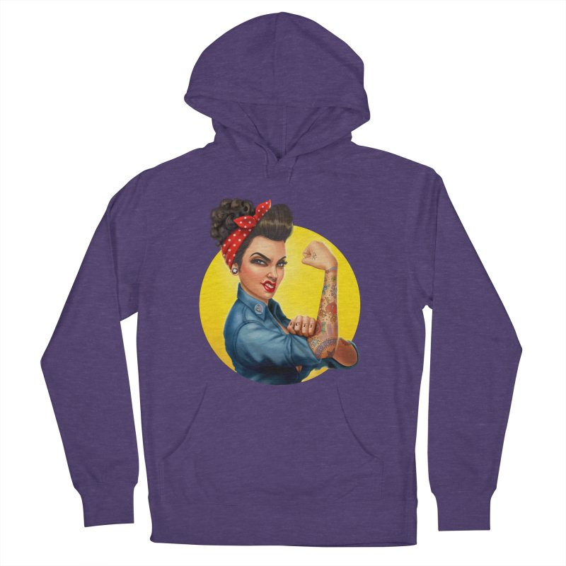 Rosie The Riveter Men's Pullover Hoody by Pinup Bombshells Artist Shop