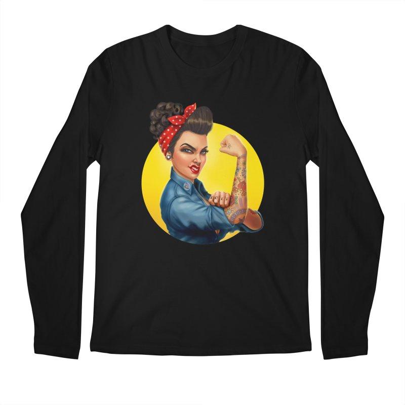 Rosie The Riveter Men's Longsleeve T-Shirt by Pinup Bombshells Artist Shop