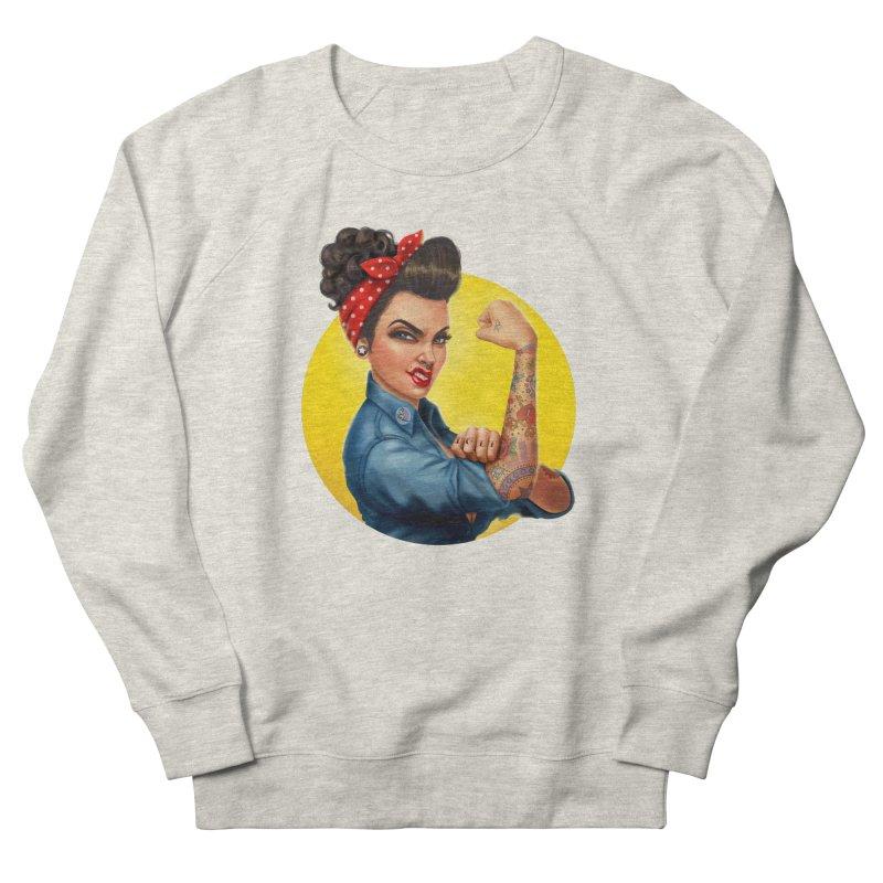 Rosie The Riveter Women's Sweatshirt by Pinup Bombshells Artist Shop