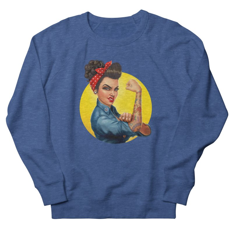 Rosie The Riveter Men's Sweatshirt by Pinup Bombshells Artist Shop