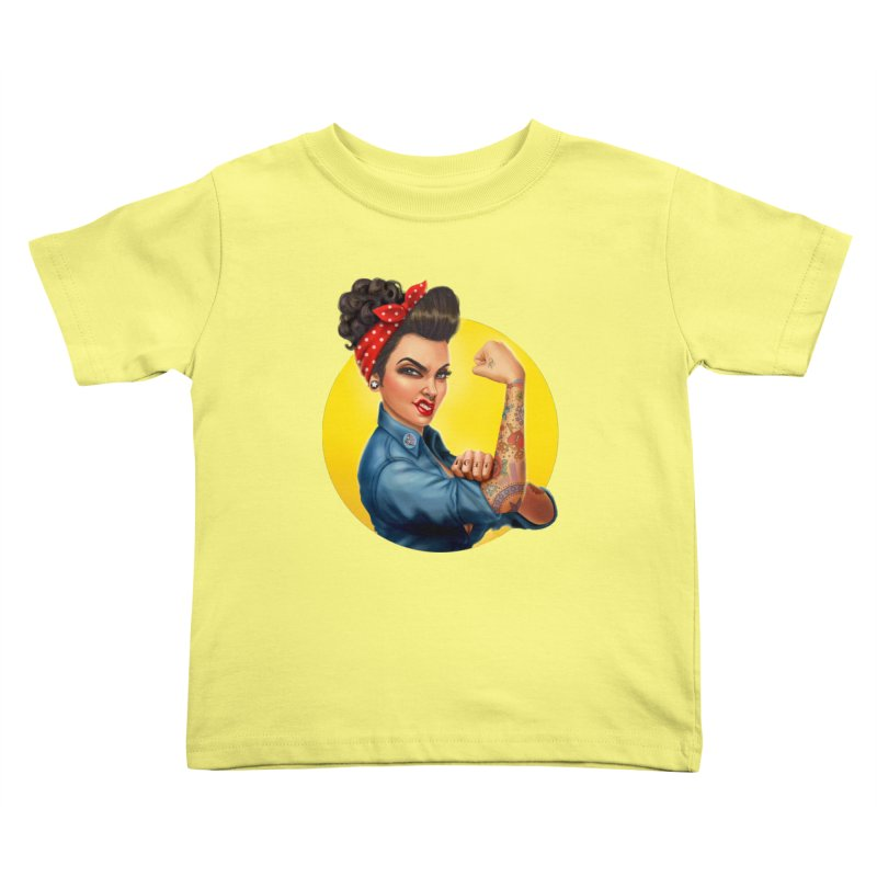 Rosie The Riveter Kids Toddler T-Shirt by Pinup Bombshells Artist Shop