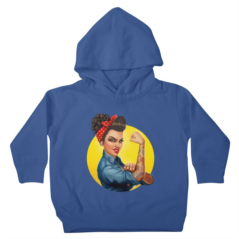 Rosie The Riveter Kids Toddler Pullover Hoody by Pinup Bombshells Artist Shop