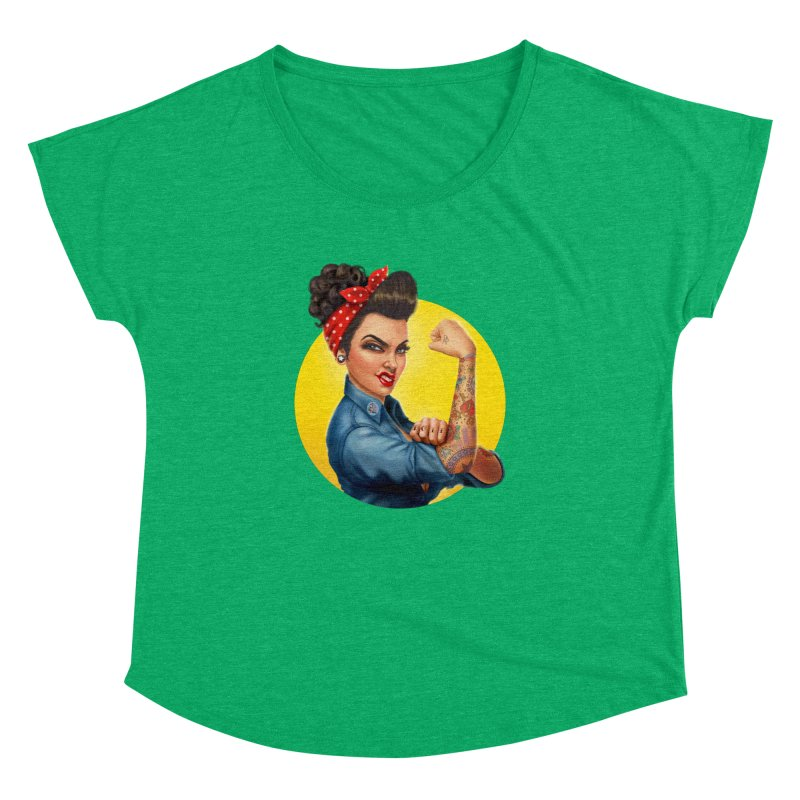 Rosie The Riveter Women's Dolman by Pinup Bombshells Artist Shop