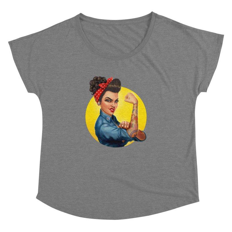 Rosie The Riveter Women's Dolman by Pinup Bombshells Artist Shop