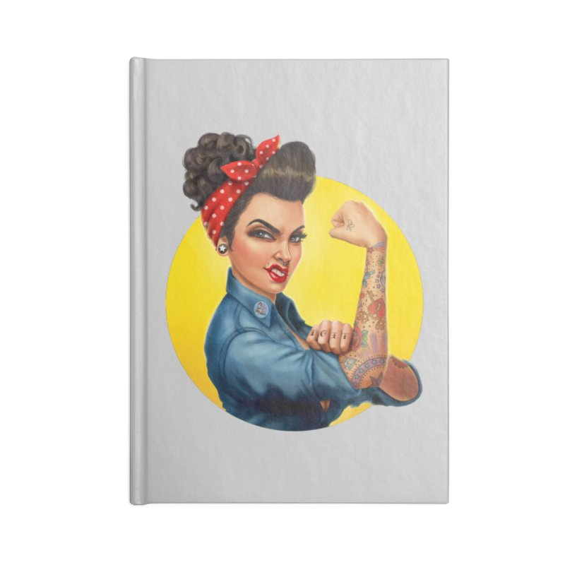 Rosie The Riveter Accessories Notebook by Pinup Bombshells Artist Shop
