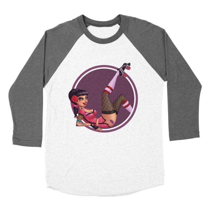Lotta Payne Men's Baseball Triblend T-Shirt by Pinup Bombshells Artist Shop