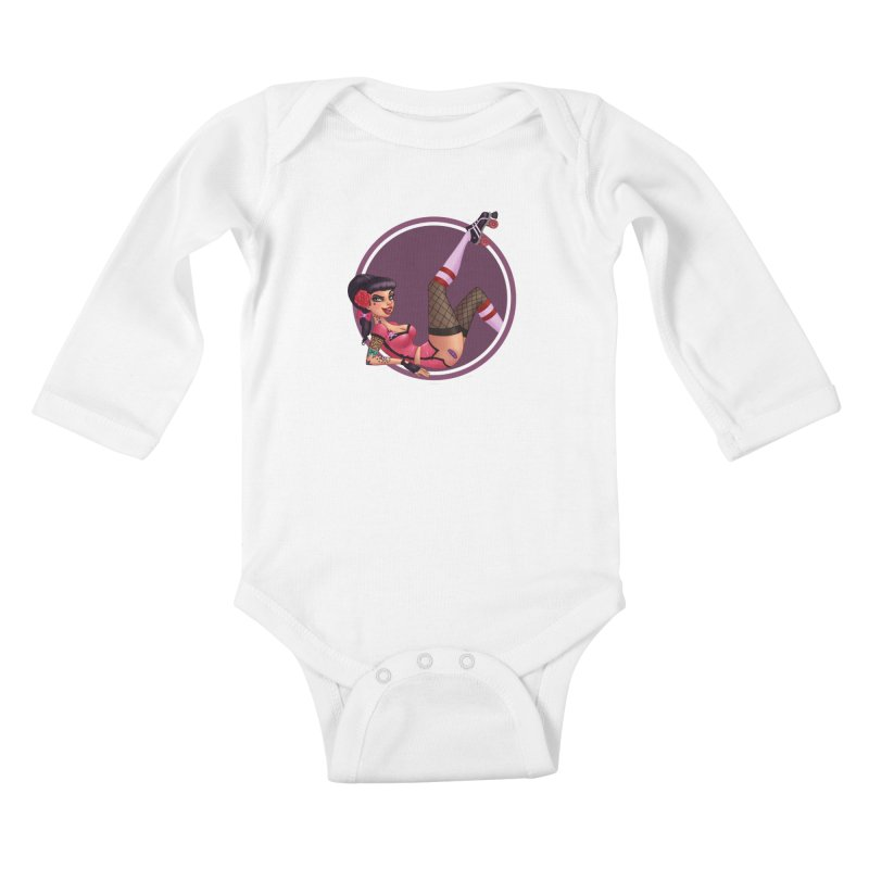 Lotta Payne Kids Baby Longsleeve Bodysuit by Pinup Bombshells Artist Shop