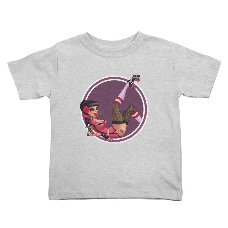 Lotta Payne Kids Toddler T-Shirt by Pinup Bombshells Artist Shop