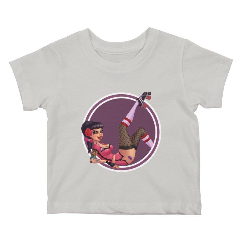 Lotta Payne Kids Baby T-Shirt by Pinup Bombshells Artist Shop