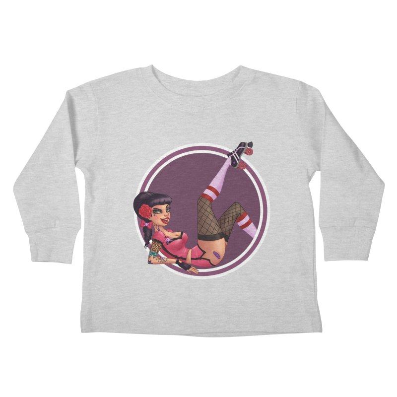 Lotta Payne Kids Toddler Longsleeve T-Shirt by Pinup Bombshells Artist Shop