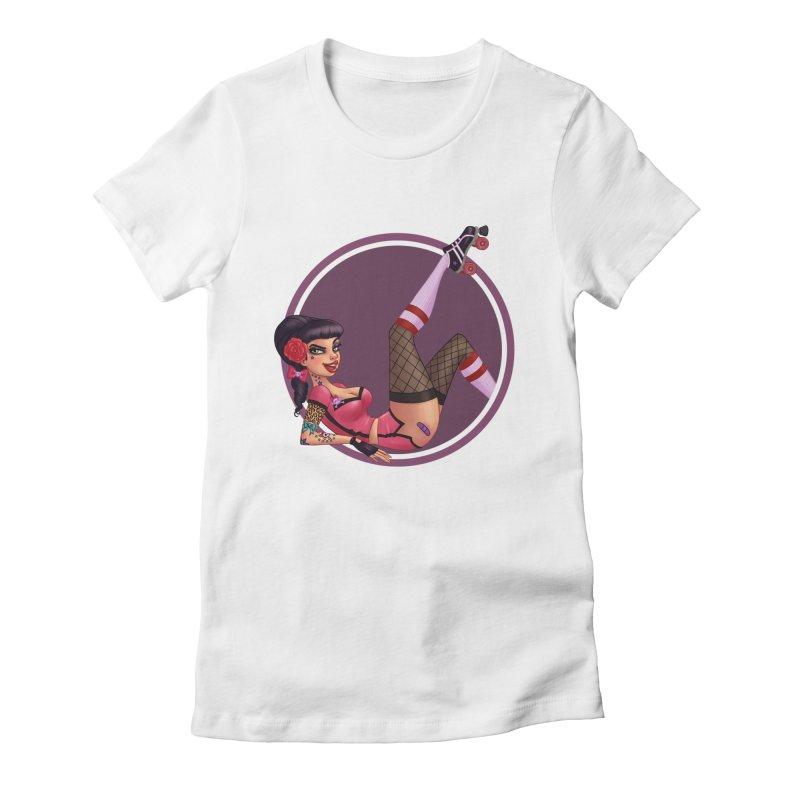 Lotta Payne Women's Fitted T-Shirt by Pinup Bombshells Artist Shop