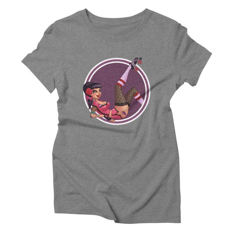 Lotta Payne Women's Triblend T-Shirt by Pinup Bombshells Artist Shop