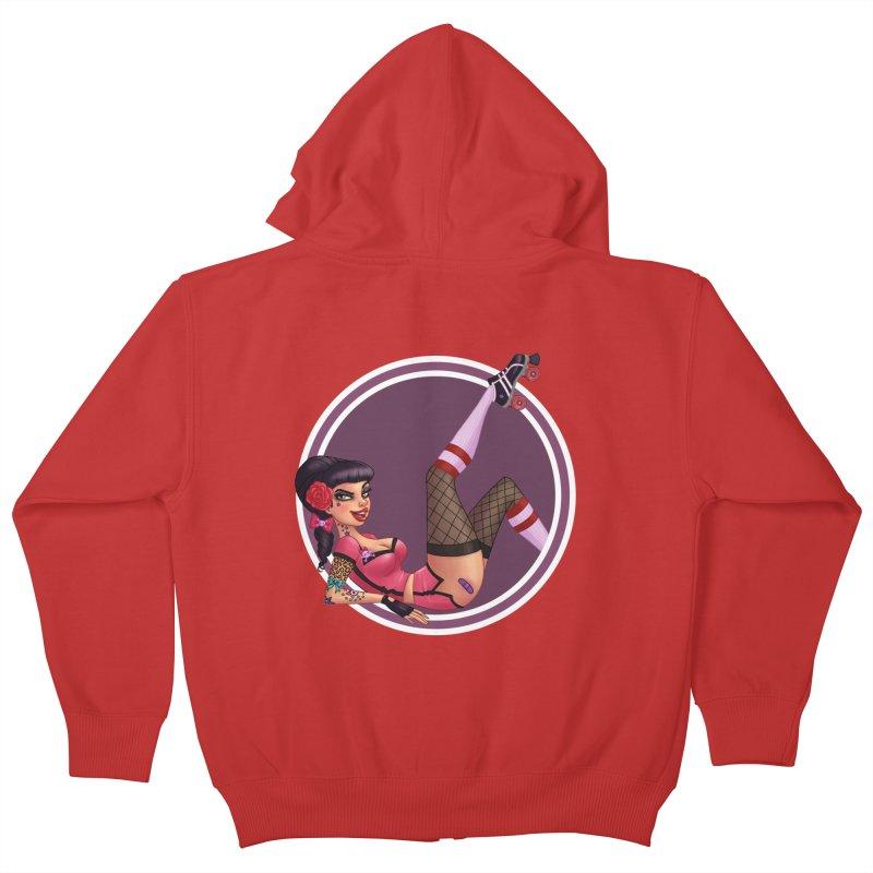 Lotta Payne Kids Zip-Up Hoody by Pinup Bombshells Artist Shop
