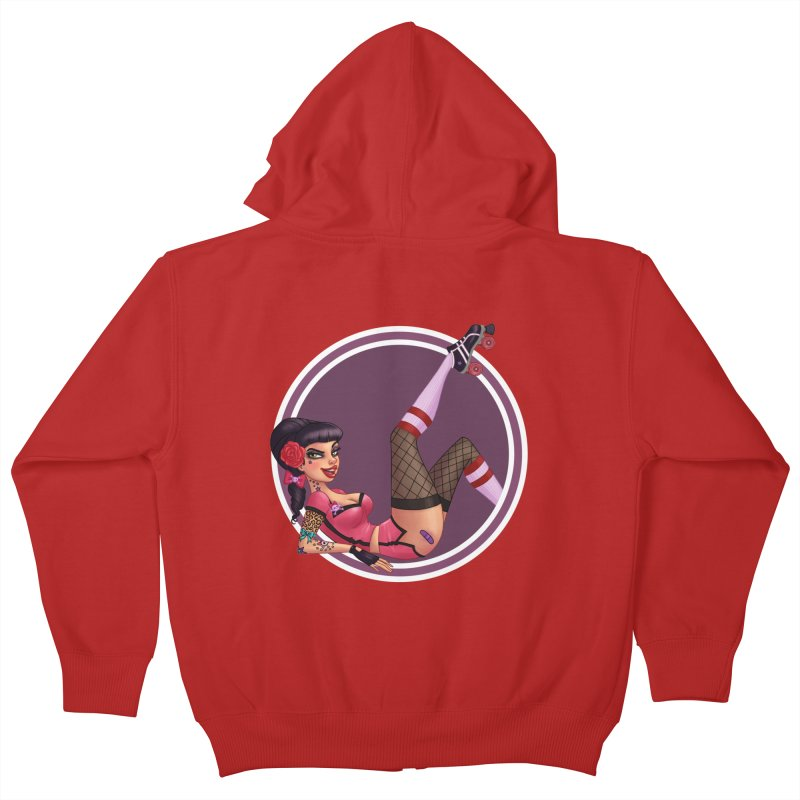 Lotta Payne Kids Zip-Up Hoody by Pinup Bombshells Artist Shop