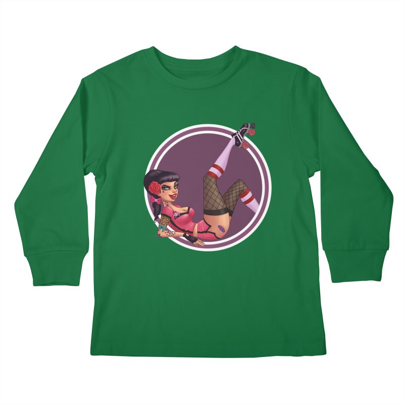 Lotta Payne Kids Longsleeve T-Shirt by Pinup Bombshells Artist Shop