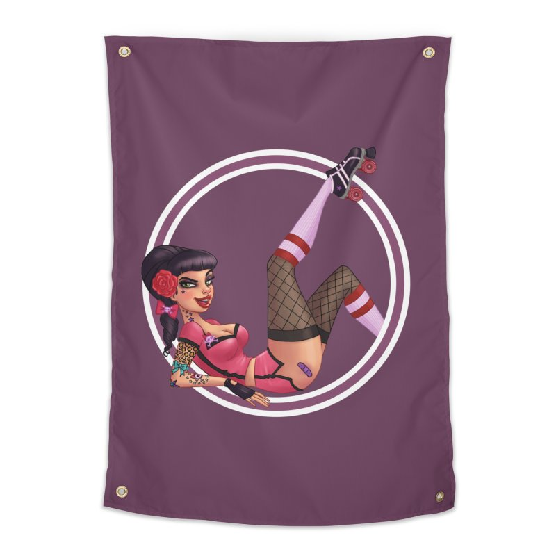 Lotta Payne Home Tapestry by Pinup Bombshells Artist Shop