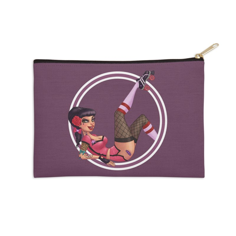 Lotta Payne Accessories Zip Pouch by Pinup Bombshells Artist Shop