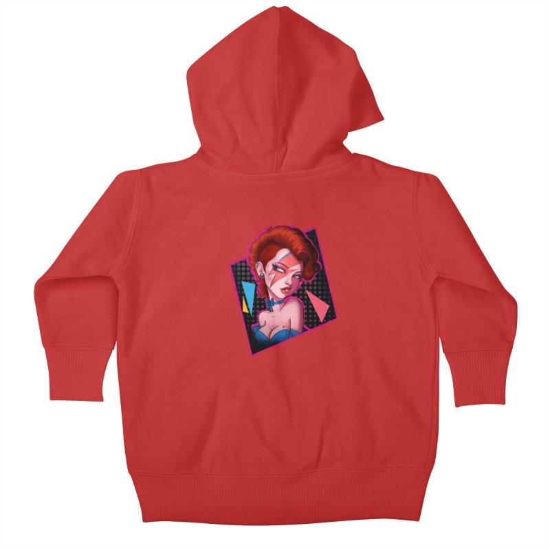 Ziggy Kids Baby Zip-Up Hoody by Pinup Bombshells Artist Shop