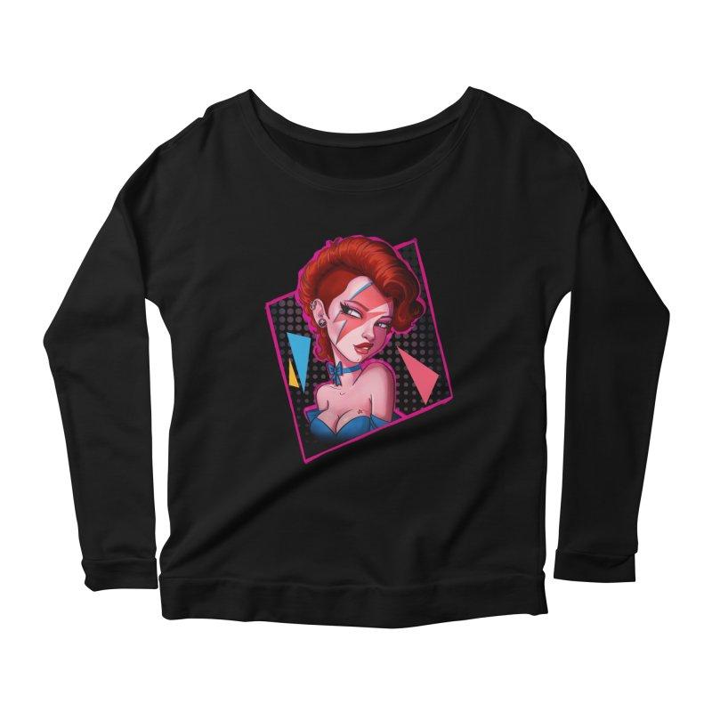 Ziggy Women's Longsleeve Scoopneck  by Pinup Bombshells Artist Shop