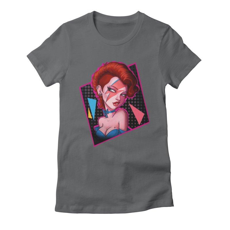 Ziggy Women's Fitted T-Shirt by Pinup Bombshells Artist Shop
