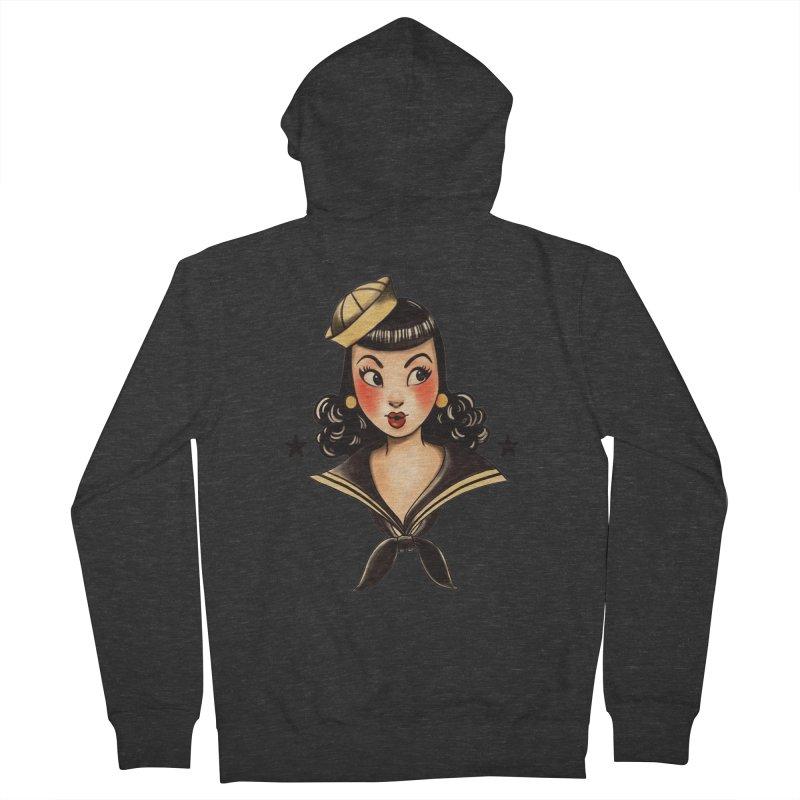 Sailor Jerry Tribute Men's Zip-Up Hoody by Pinup Bombshells Artist Shop