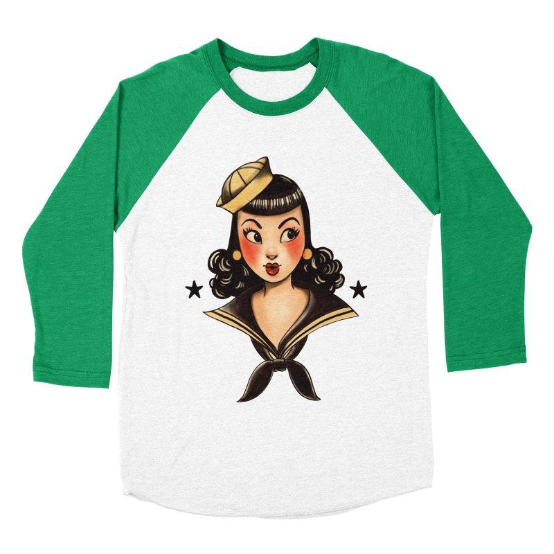 Sailor Jerry Tribute Women's Baseball Triblend T-Shirt by Pinup Bombshells Artist Shop