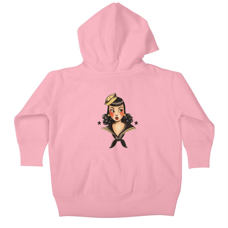 Sailor Jerry Tribute Kids Baby Zip-Up Hoody by Pinup Bombshells Artist Shop