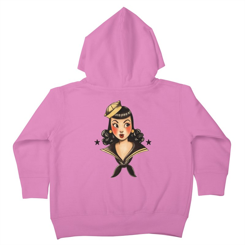 Sailor Jerry Tribute Kids Toddler Zip-Up Hoody by Pinup Bombshells Artist Shop