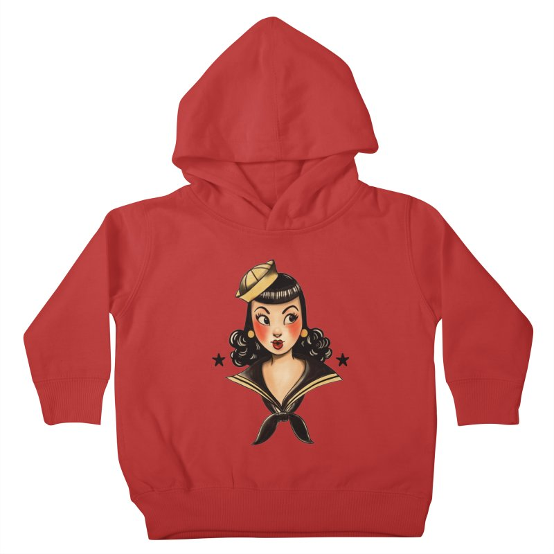 Sailor Jerry Tribute Kids Toddler Pullover Hoody by Pinup Bombshells Artist Shop