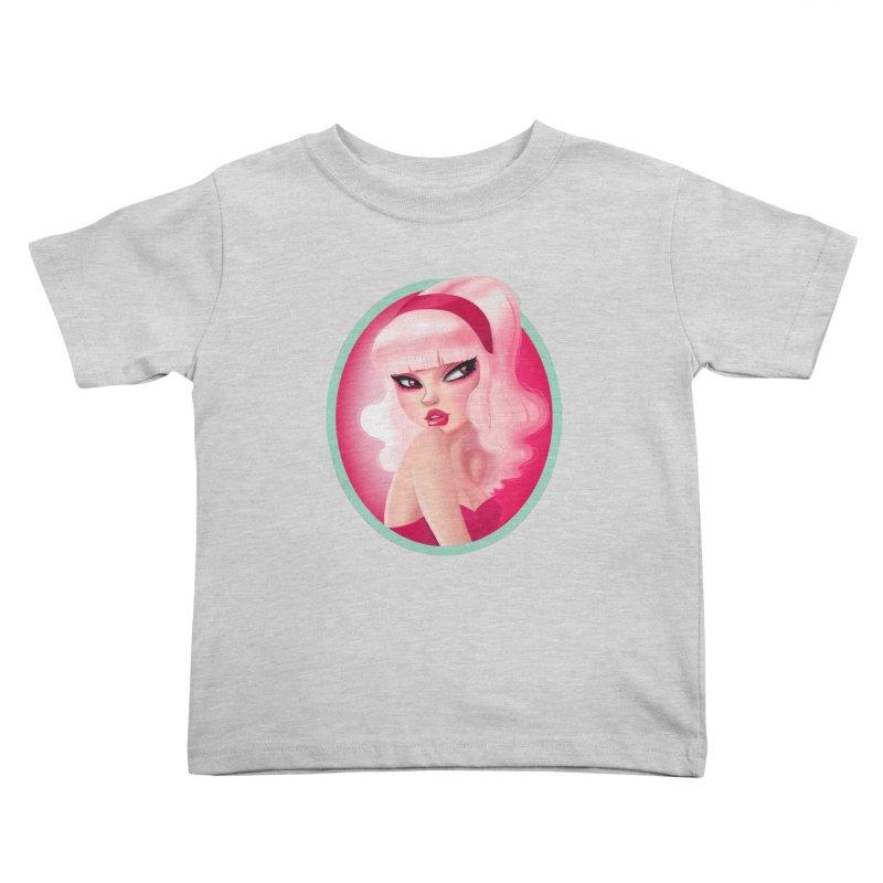 Miss Kandy Floss Kids Toddler T-Shirt by Pinup Bombshells Artist Shop