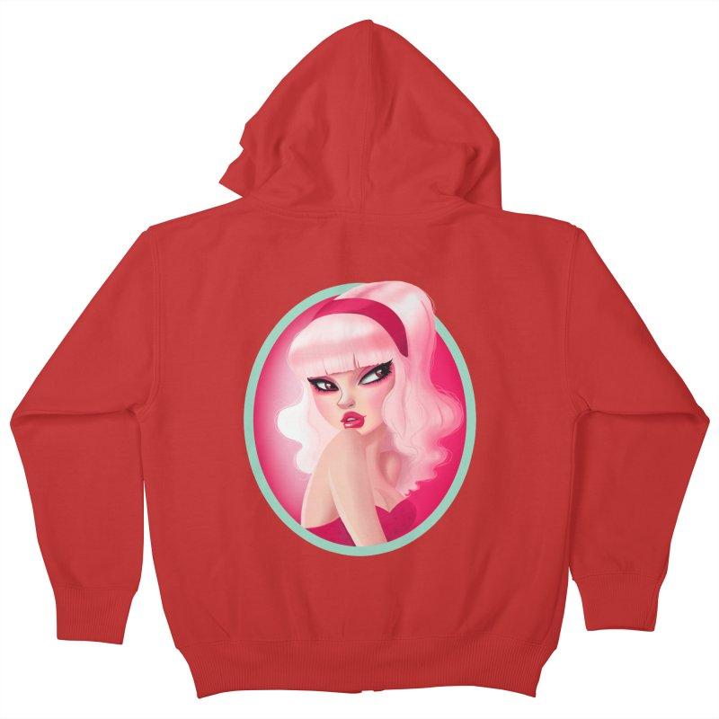 Miss Kandy Floss Kids Zip-Up Hoody by Pinup Bombshells Artist Shop